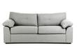 Leinwandbild Motiv Grey sofa isolated on a white background