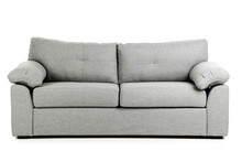 Grey Sofa Isolated On A White ...