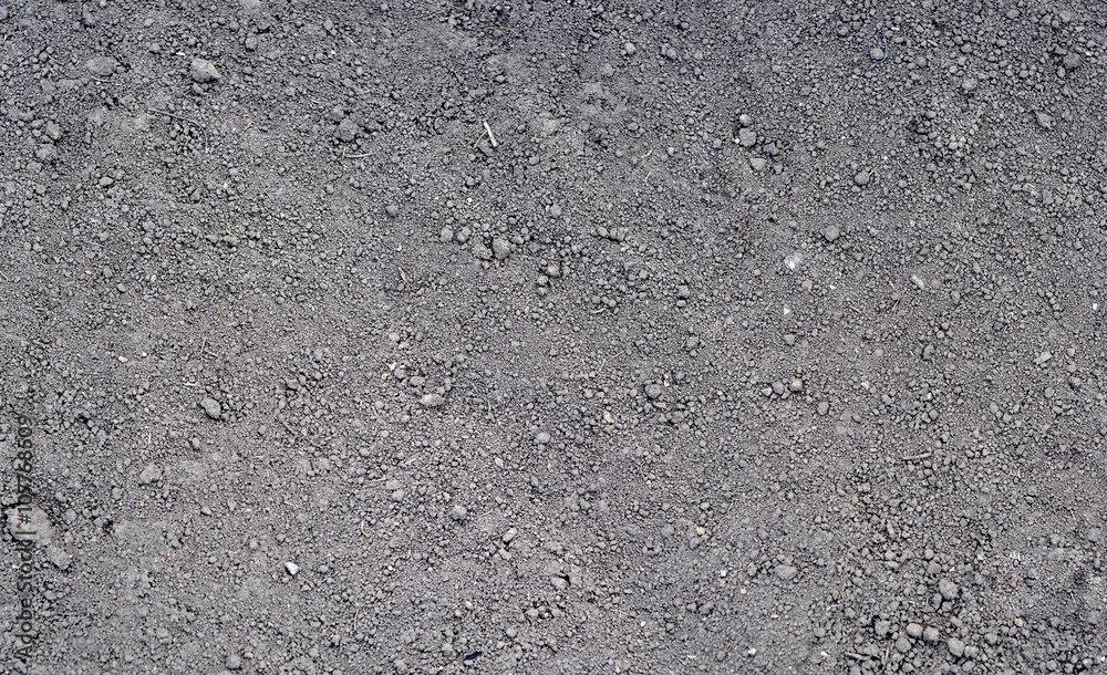 Fototapeta Gray ground surface. Close up natural background