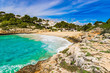 Beautiful bay beach Majorca Cala Anguila Spain