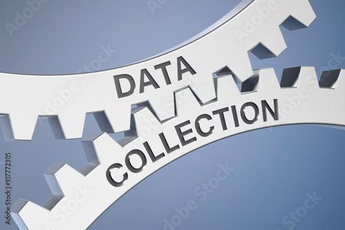 Fotografie, Obraz  Cogwheel / Data Collection