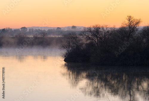 Sunrise Over the Snake River Poster