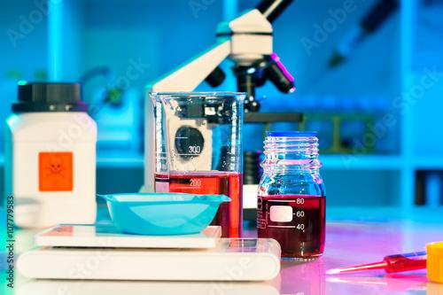 Fényképezés  researchers work in modern scientific lab. Preparation of hazard