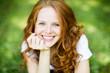 canvas print picture - Frau mit roten Haaren