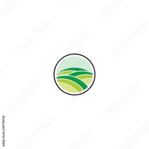 green nature icon vector logo