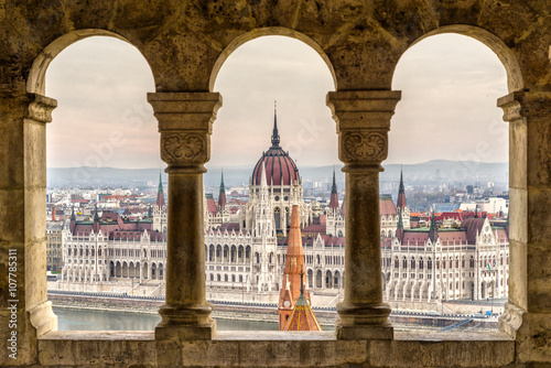 Fotografie, Obraz  Budapešť pohled, Maďarsko