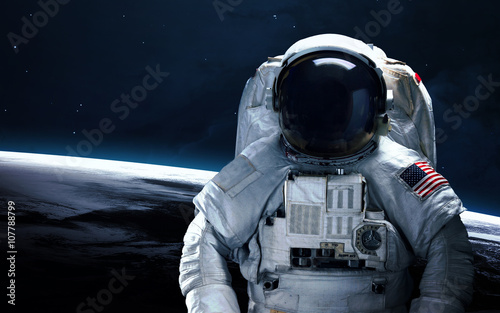 Keuken foto achterwand Nasa Astronaut in outer space. Spacewalk. Elements of this image furnished by NASA
