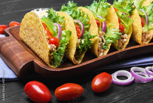 Mexican food tacos Canvas