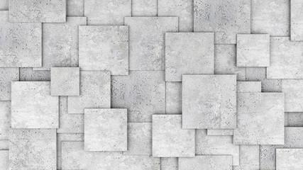 FototapetaConcrete 3d cube wall as background or wallpaper. 3D rendering