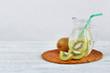 Healthy detox fruit infused flavored water.