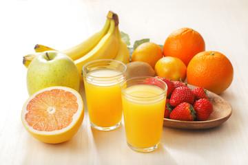 フルーツジュース 集合イメージ Fruit juice set