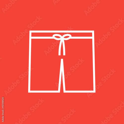 Swimming trunks line icon. Fototapete