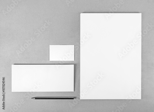 Photo of blank stationery set. Blank stationery template for ...
