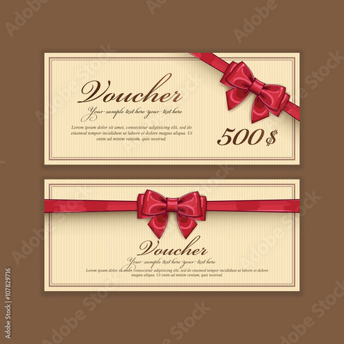 gift discount voucher template vector layout special offer coupon