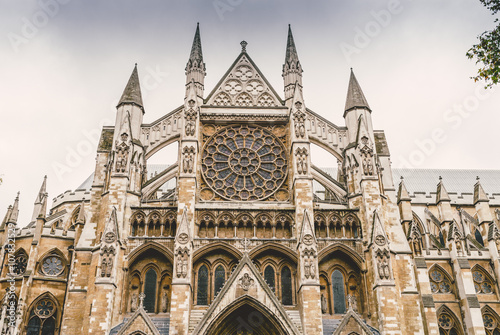 Fotografie, Obraz  North Entrance of Westminster Abbey in London