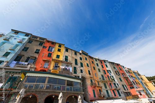 Photographie  The tower houses in Portovenere or Porto Venere (UNESCO world heritage site)