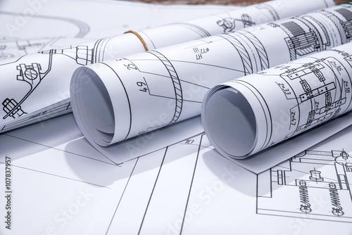 Fotografie, Obraz  part of engineering project