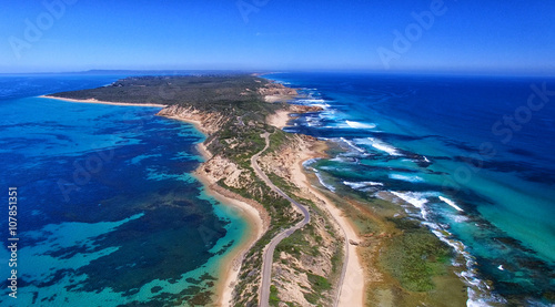 Fotografie, Obraz  Fort Nepean road as seen from helicopter, Australia