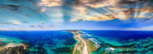 Fort Nepean Road As Seen From Helicopter, Australia