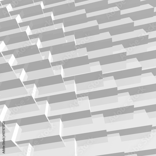 Abstract 3D grey geometry background