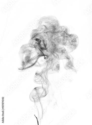 Plakat odizolowany dym