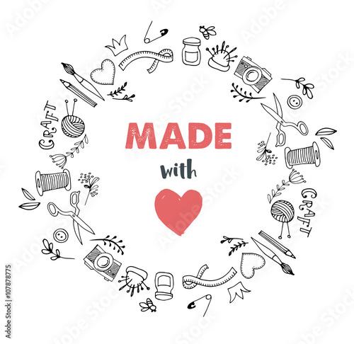 Foto  Handmade, crafts workshop, art fair and festival poster