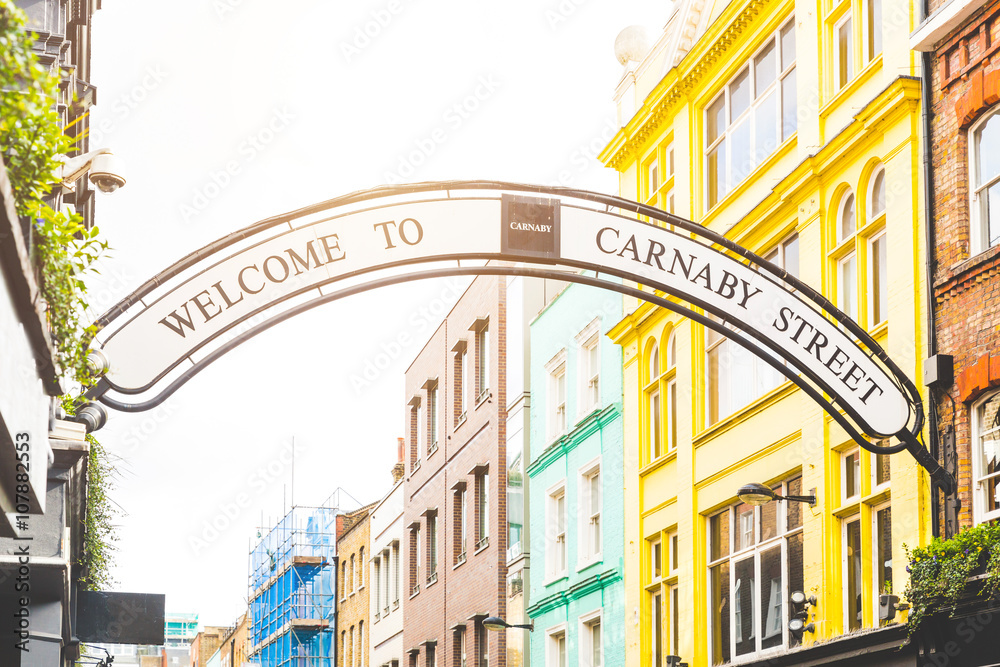 Carmaby street sign in London Canvas Print