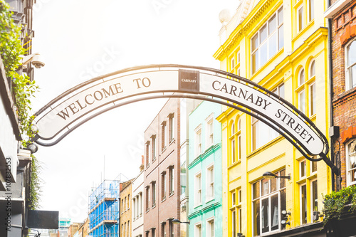 Carmaby street sign in London Wallpaper Mural