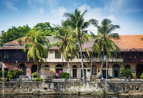 dutch colonial buildings in old town of jakarta indonesia