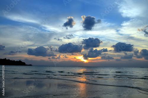 Foto op Plexiglas Indonesië sunset at golf of thailand