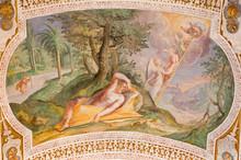 Rome - The Jacob's Ladder By Antonio Viviani (1560–1620). Fresco From The Vault Of Stairs In Church Chiesa Di San Lorenzo In Palatio Ad Sancta Sanctorum.