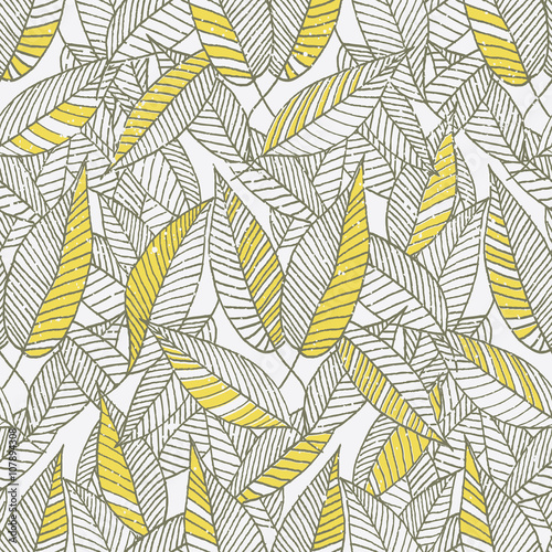 Seamless Floral Leaf Pattern