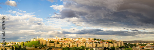 Panoramic View of the Old Town of Ávila, Spain
