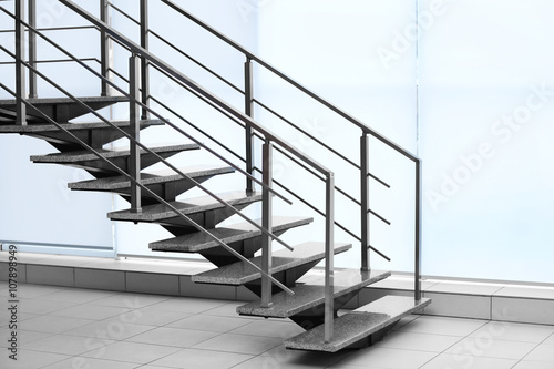 Poster Trappen Modern stairs in office
