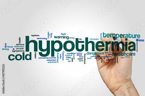 Vászonkép Hypothermia word cloud