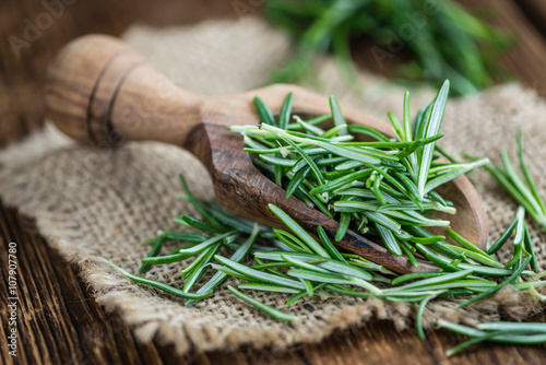 Some fresh Rosemary (close-up shot)
