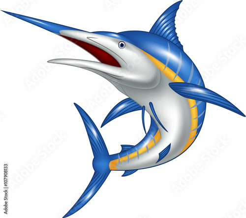 Photo  Marlin fish cartoon