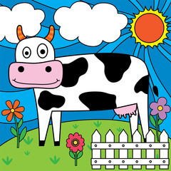 Fototapetadairy cow design