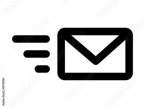 Obraz na plátně Send email message or forward email message line art icon for apps and websites