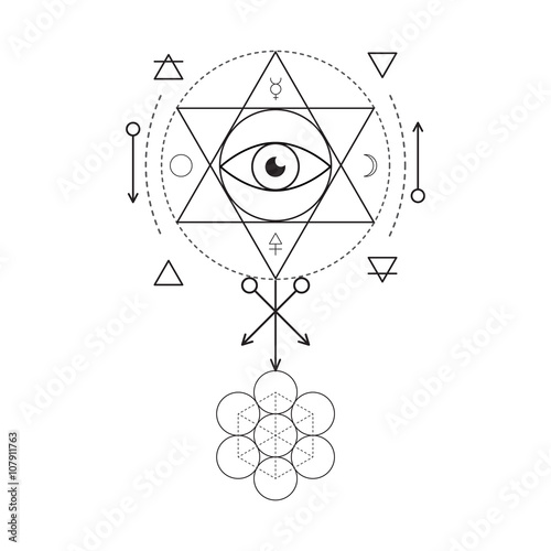 Symbol Of Alchemy And Sacred Geometry Three Primes Spirit Soul