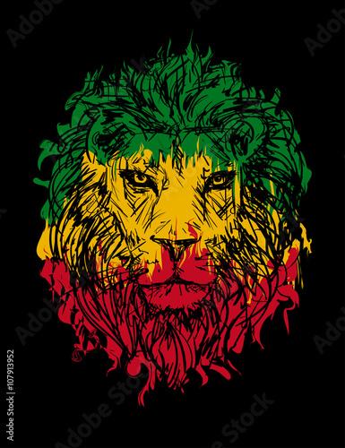 Fotografie, Obraz  rasta lion vector 3