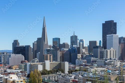 Keuken foto achterwand San Francisco skyline of San Francisco