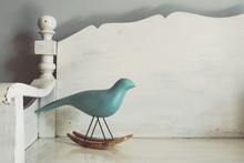 Vintage Tone Of Wood Carving Of A Bird