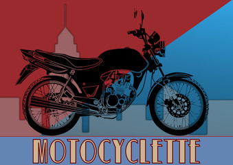 Fototapeta Motor Art déco, moto