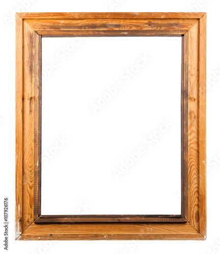 wooden decorative frame for painting isolated on white - Buy this ...