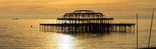 The West Pier At Sunset In Brighton