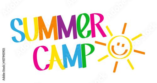 "Valokuva  ""SUMMER CAMP"" Graffiti Style Colourful Vector Lettering"