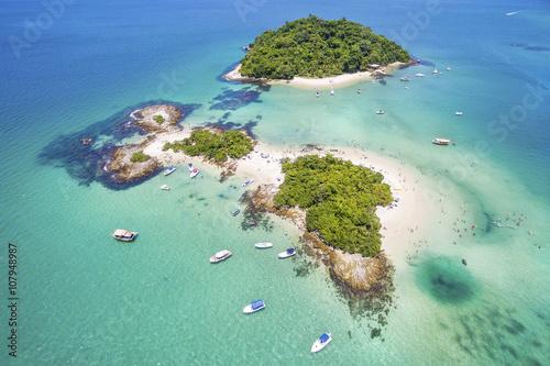 Photo  Aerial view of Cataguases Island in Angra dos Reis, Rio de Janeiro, Brazil