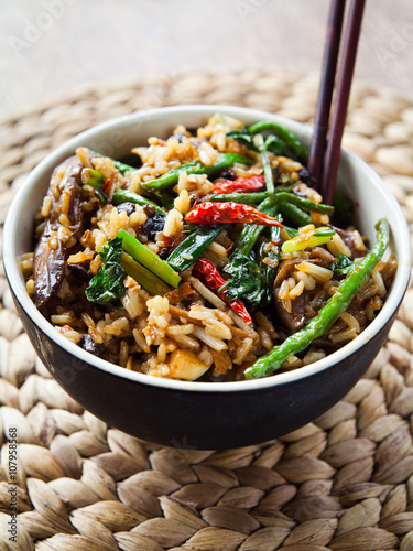 fototapeta na lodówkę thai rice meal