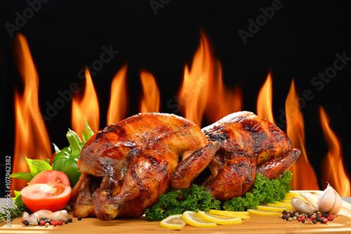 Obraz na płótnie Pieczony kurczak